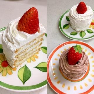 マリービスケット ショートケーキ