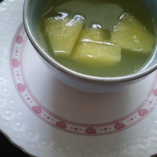 缶詰の汁で(^^)あまーい果物ゼリー