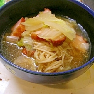 ベーコンでおいしく♪白菜とベーコンのスープ煮