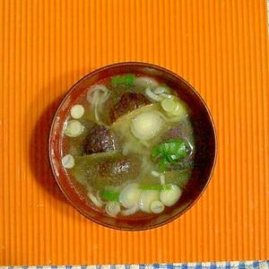 冷凍揚げナスの味噌汁♪