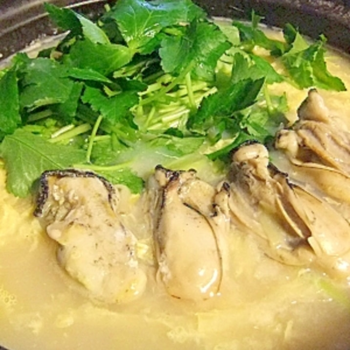 ちょっとリッチに★プリプリ牡蠣の贅沢雑炊