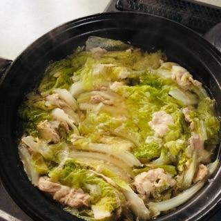 子供も大好き!豚肉と白菜の和風鍋