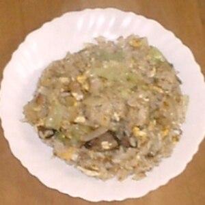 ベーコン レタス 卵 チャーハン