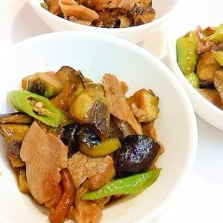 ご飯が進みます☆ナスと万願寺唐辛子と豚肉の炒め物