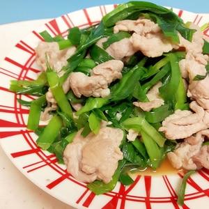 子供が喜ぶ(^^)ニラと豚肉のシンプルな炒めもの♪