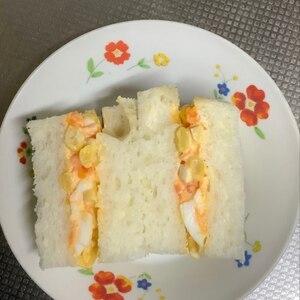マヨコーン卵サンド