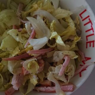 生姜ベーコンのレタスサラダ