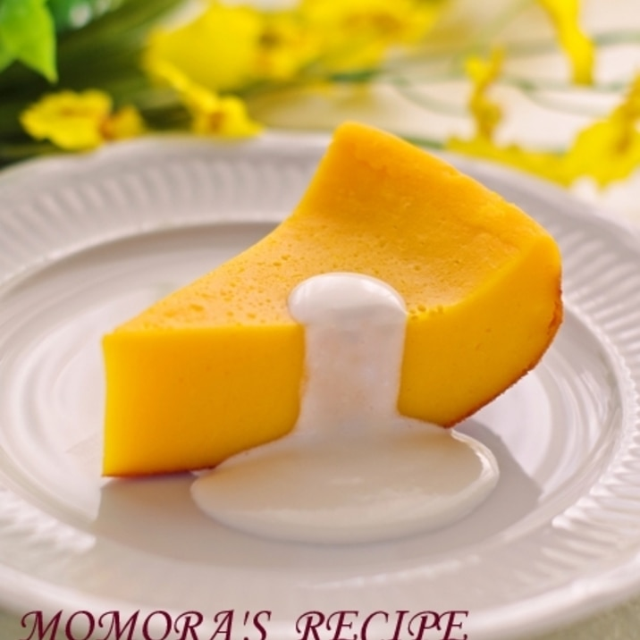HMと炊飯器で簡単♪超シットリ濃厚かぼちゃケーキ♡