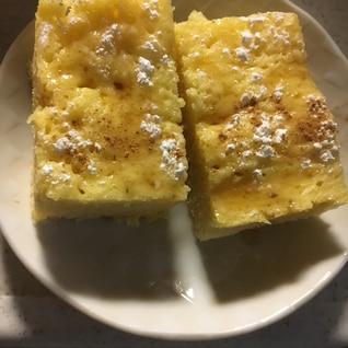 豆乳×HM◎電子レンジで簡単タッパー蒸しケーキ