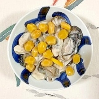 牡蠣に銀杏水煮~♪