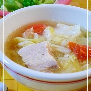 豚肉とキャベツのとろとろスープ<圧力鍋>