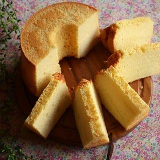 しゅわっとおいしいヨーグルトシフォンケーキ