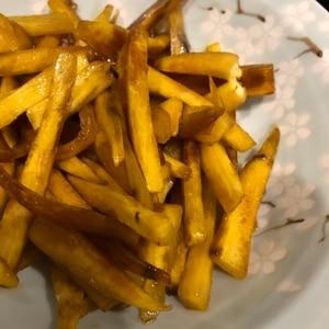 お弁当のおかず・常備菜☆簡単サツマイモのキンピラ♪