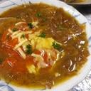 焼きトマトオニオングラタンスープ