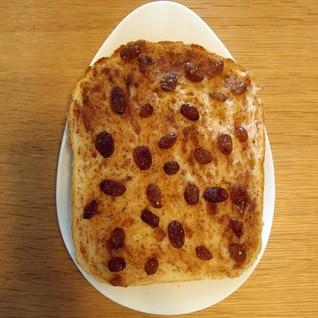 渋皮栗ジャムと手作りラムレーズンのトースト