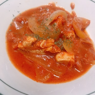 鶏肉の味噌トマト煮