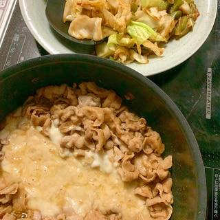 チーズタッカルビの辛味噌味の豚肉バージョン