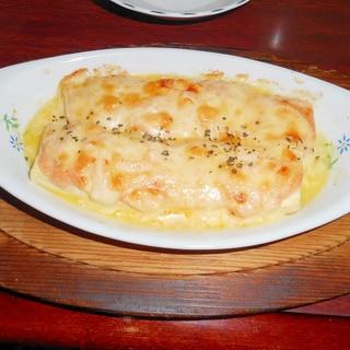 簡単おつまみ!豆腐の明太子チーズ焼き