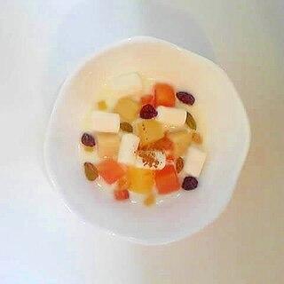 フルーツマシュマロヨーグルト