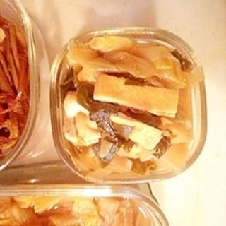 九条葱と油揚げの煮物