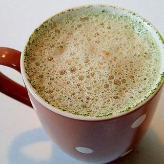 バリスタで メープル香る緑茶ココアソイカプチ♪