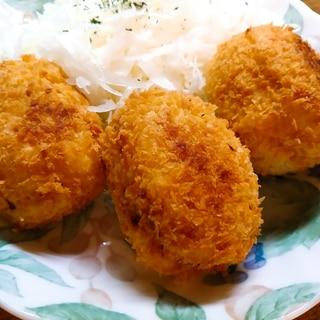 薩摩芋とゆで卵のコロッケ