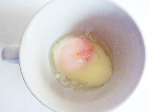 簡単温泉玉子 電子レンジとマグカップで1分