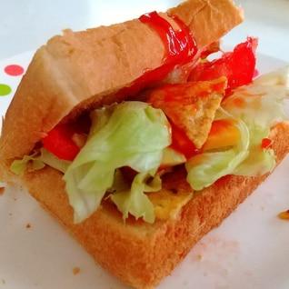簡単!トルティーヤチップス サンドイッチ