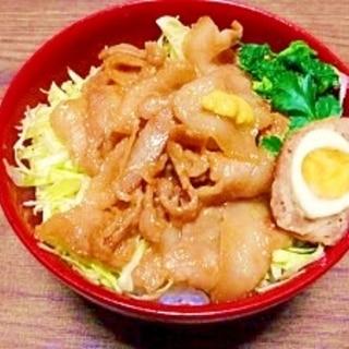 豚バラ肉☆丼