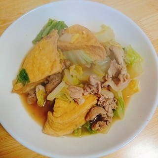 厚揚げ 白菜 豚肉の煮物