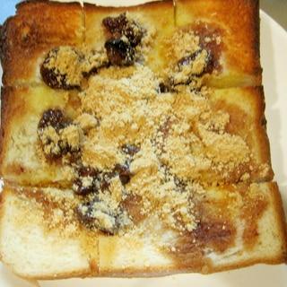 苺ジャムのきなこトースト
