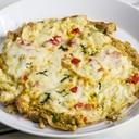 カレー風味のインドオムレツ チーズのせ
