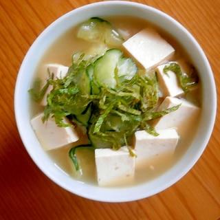 豆腐・きゅうりの冷や汁