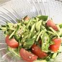 さっぱり美味しいオクラときゅうりとトマトのサラダ