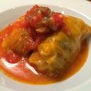 トマトスープで【ロールキャベツ】