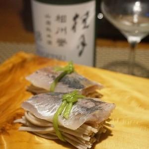 【高知食材】〆鯵のにぎり蕎麦寿司
