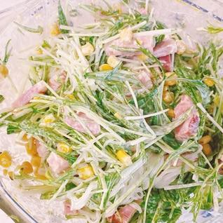 水菜と春雨のマヨネーズサラダ