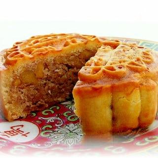 エンガディナーのような♪メープル風味のクルミ月餅