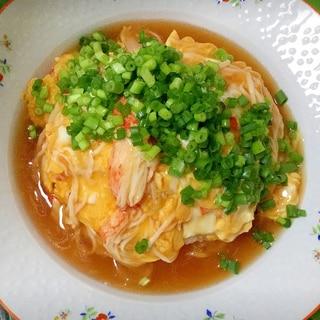 お店並みに美味しい☆卵とネギ多めのカニカマ天津飯
