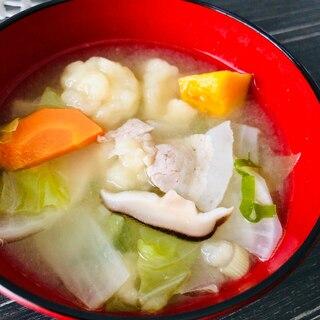 冷蔵庫の野菜で☆具沢山すいとん汁