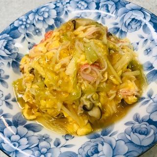 卵とカニカマのあんかけご飯