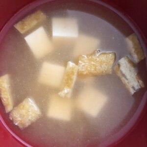豆腐と油揚げの味噌汁 だし入り味噌で