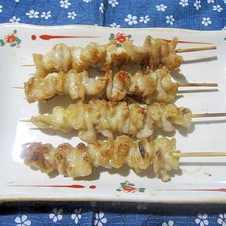 鶏皮の串焼き