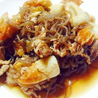 生姜ピリッと♪豚肉と糸蒟蒻と竹輪のさっと煮