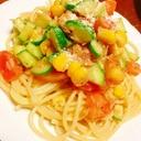 超簡単!ツナと野菜の冷製パスタ