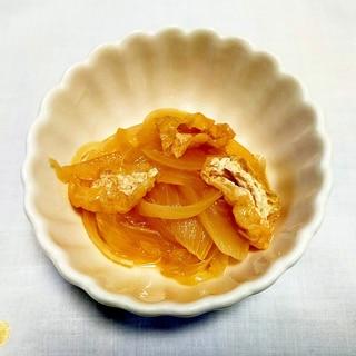 簡単福菜☆新玉ねぎと油揚げの麺つゆ煮