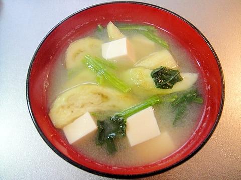 茄子と豆腐の味噌汁