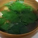 三つ葉の卵スープ