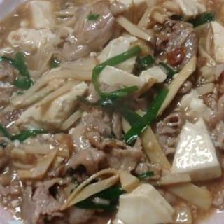 めんつゆで!豚肉たけのこ中華風