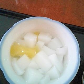 桃缶で簡単杏仁豆腐